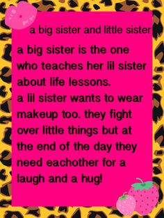 ... sister quote big sisters quotes, little sister quotes, little sisters