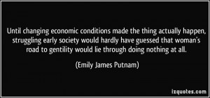 Until changing economic conditions made the thing actually happen ...