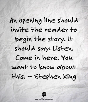 Stephen King Not a King fan but LOVE the quote for writing short ...