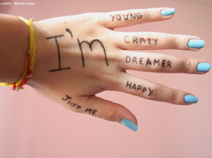 crazy, cute, hand, image, leilockheart, life, nails, personal, quote ...