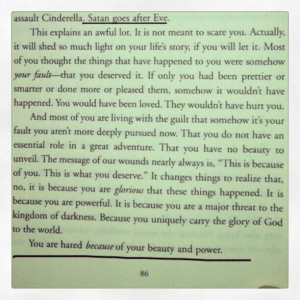 ... eyes of God! (from 'Captivating' by John & Stasi Eldredge, page 86