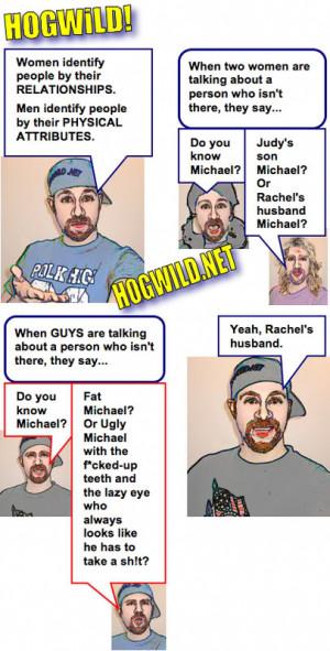 Men vs Women cartoon Image
