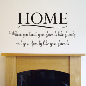 HOME Wall quote sticker - WA094X