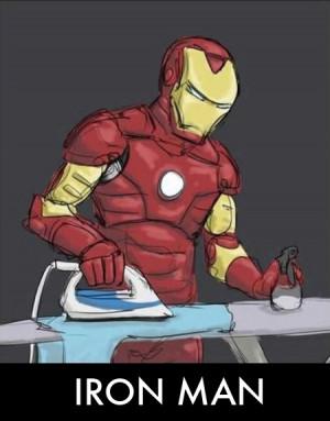 Iron Man Funny Parody Ironing
