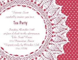 Design 230 Tea Party - Tea Party Invitation