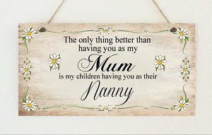 Details about Beautiful Plaque No1 Mum Nanny Mothers Day Birthday Gift ...