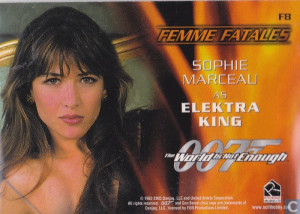 ... cards - Women of James Bond in motion - Sophie Marceau as Elektra King