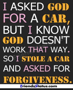 stole a car funny quotes image