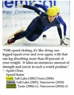 Apolo Ohno on Speed Skating