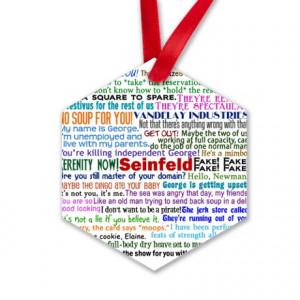 Seinfeld Quotes Hexagon Ornament