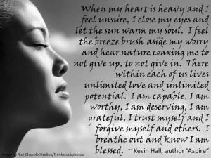 When my heart is heavy...