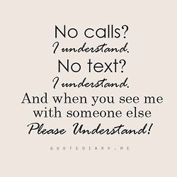 and texts because he doesn't want to see me with someone else. He ...