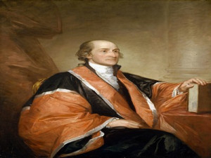 john jay first chief justice of the us supreme court portrait of john ...