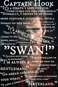 Once Upon a Time   Captain Hook Quotes In honor of Talk like a pirate ...