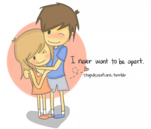 art, cartoon, couple, cute, drawing, heart - inspiring picture on ...
