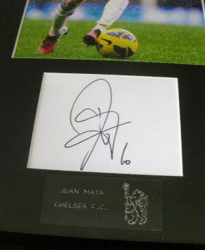 Home / Juan Mata Authentic Signature Frame