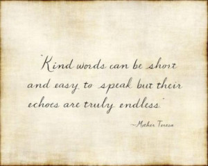 Kindness Quote from Mother Teresa