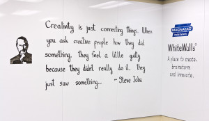 "... didn't really do it they just saw something…"" — Steve Jobs"