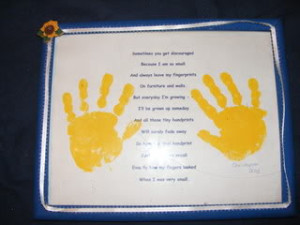 Bad Father Poems It has the handprint poem on