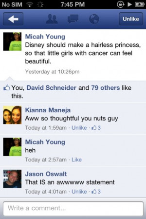 cancer, cute, disney, girls, hairless, princess, quote, thoughtful ...