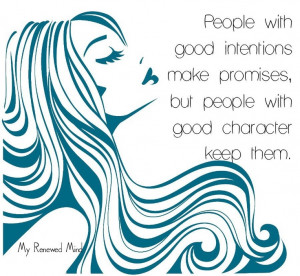 Integrity is character building!