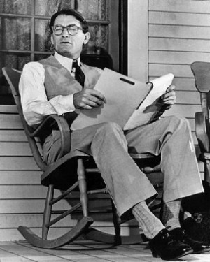... 8X10 Gregory Peck Atticus Finch On His Front Porch Free Shipping