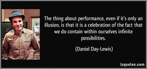 , even if it's only an illusion, is that it is a celebration ...