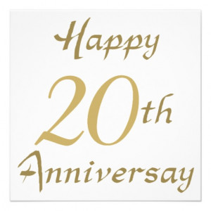 Happy 20th Anniversary Gifts Personalized Invites from Zazzle.com