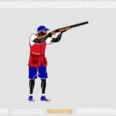 Trap Shooting Clip Art Item