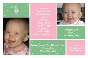 1st birthday photo invitation