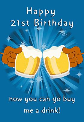 Printable Birthday Card - 21st Birthday