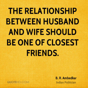 strong relationship between husband and wife