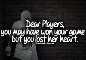 Back > Gallery For > quotes about boys being players tumblr