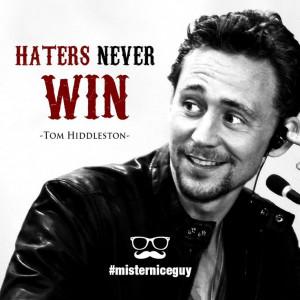 Tom Hiddleston quote ehehe