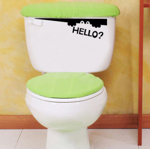 Hello Cute Fairy Bathroom Toilet Quote Word Vinyl Wall Quote home ...