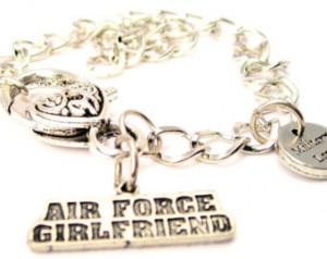 Air force girlfriend bracelet