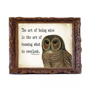 owl quote art print
