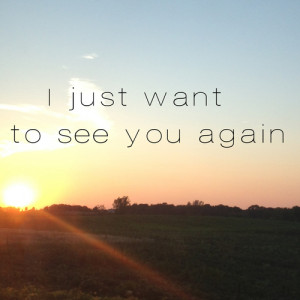 just want to see you again…so my ex and I were friends with ...