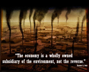 The economy is a wholly owned subsidiary of the environment, not the ...