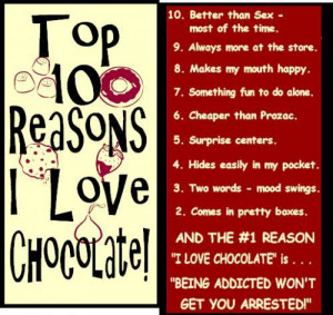 Everything with chocolate is good! @_@