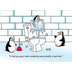 ... jokes plumbing christmas cards plumbing humor penguins plumbing