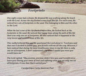 christian poems footprints