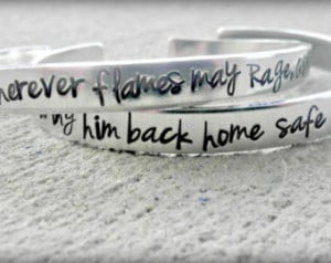 Firefighter Bracelet- Firefighter P rayer - Firefighter Wife ...