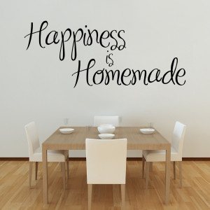 Happiness Homemade Quote Wall Decals