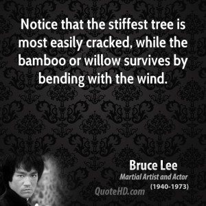 bruce-lee-actor-quote-notice-that-the-stiffest-tree-is-most-easily ...