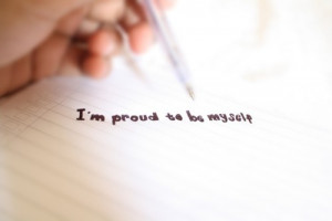 am proud to be myself