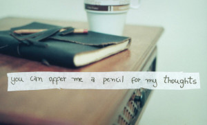 book, coffee, notebook, pencil, quote