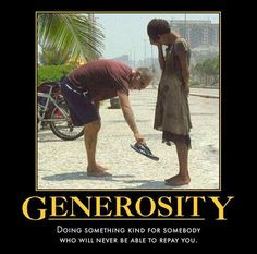 Giving and Demonstrating Generosity
