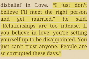 Relationships. Quite how I feel/believe. Reality vs Dreaminess