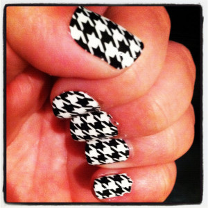 ... tooth nails thanks to Sally Hansen nail stickers…love those! So fun